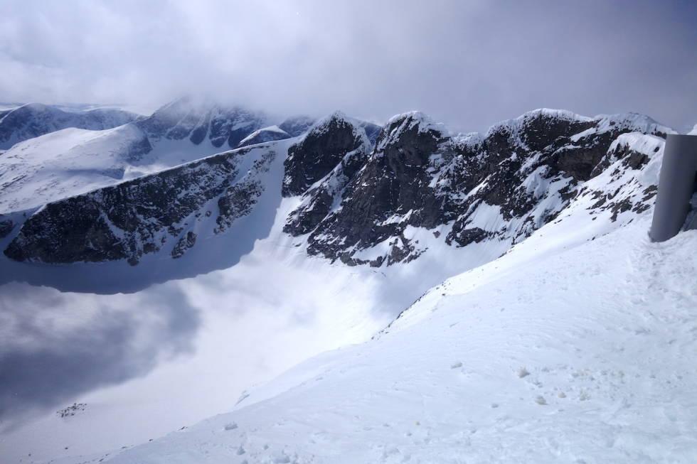 vesttoppen snøhetta sett fra stortoppen