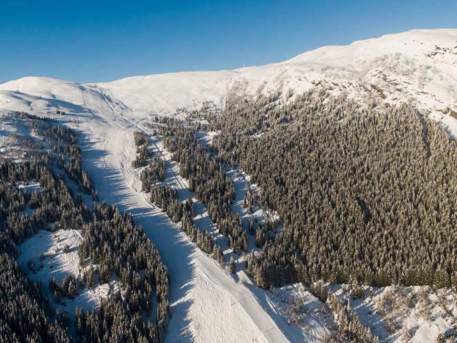 Dronebilde av Sogn Skisenter. Foto: Christian Nerdrum