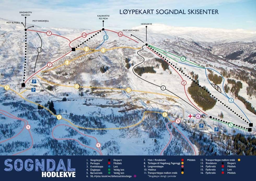 løypekart hodelkve guide ski alpint freeride