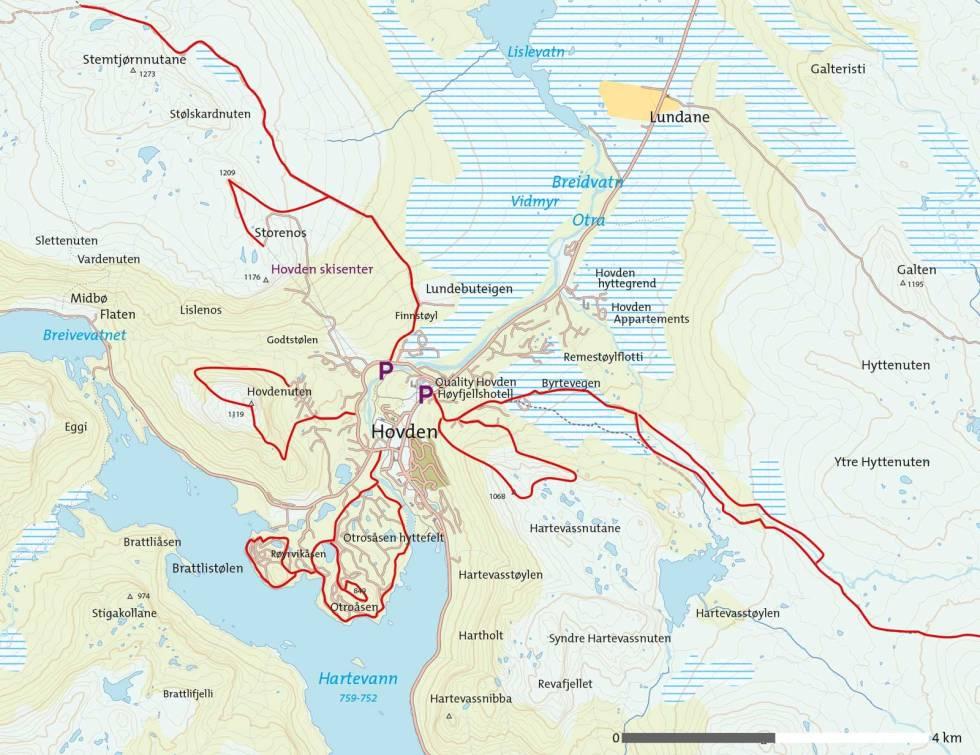 Sommer-Hovden-Kart