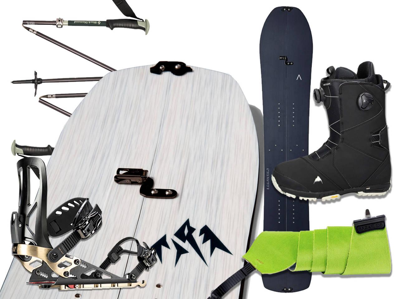 utstyr til splitboarding