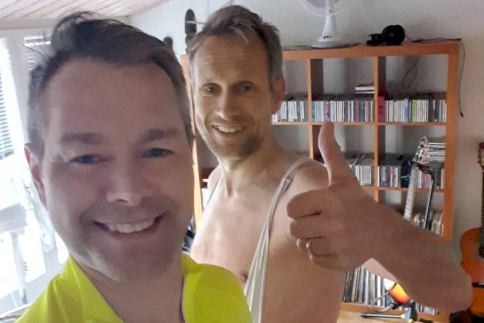 Stefan Jacobsen og Arne Hove i Strava Climbing Challenge