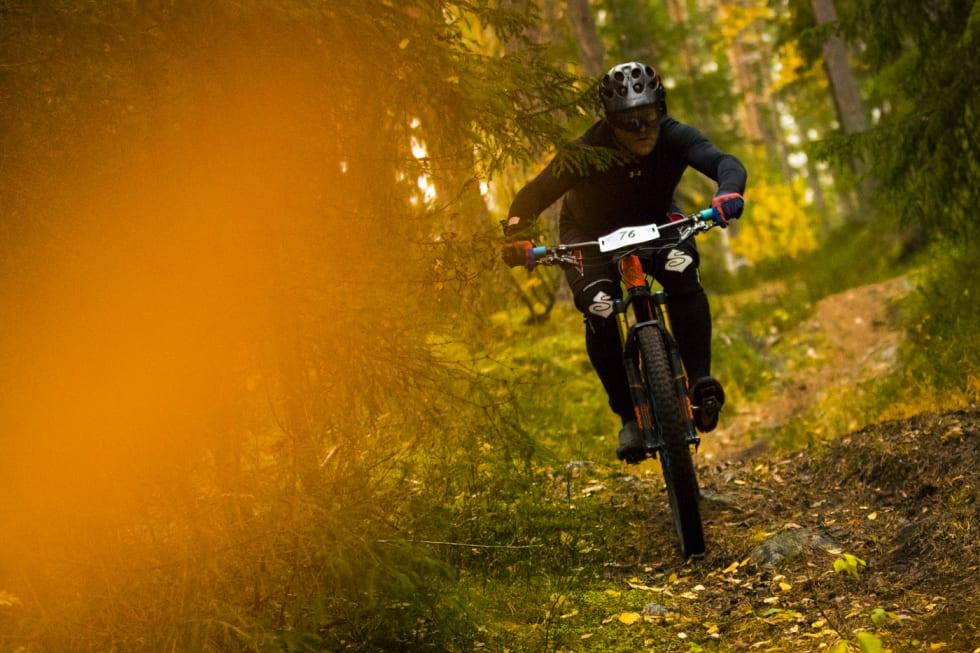 Ringerike Enduro byr på fire etapper der tre skal sykles blindt og en sykles dobbelt. Foto: Per-Eivind Syvertsen