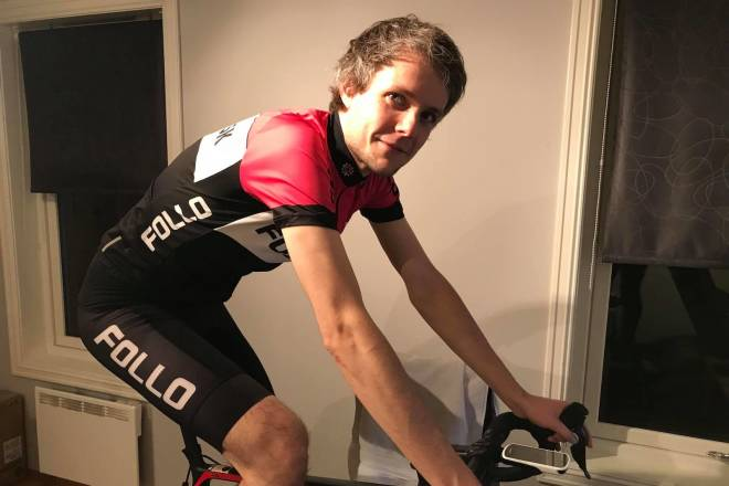 Stian Lersveen er kaptein på Zwift Vikings in Tour of Watopia 2020