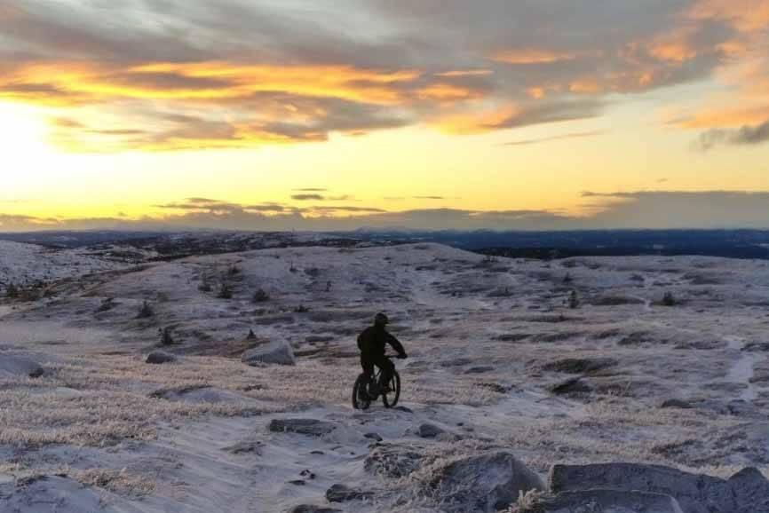 stisykling øyerfjellet vintersykling