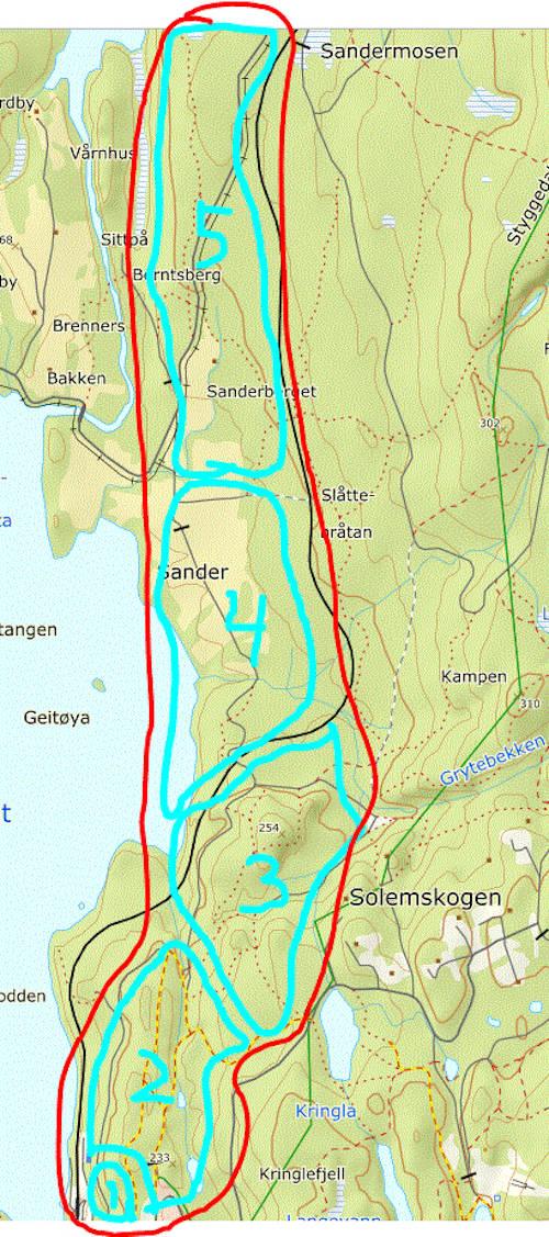 NOTS og Rye vil  bygge Stisykkelanlegg i Lillomarka