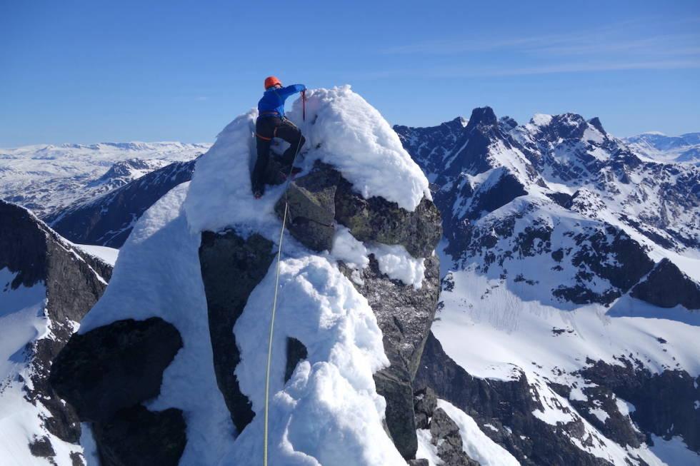 klatring toppunktet store austabotntind