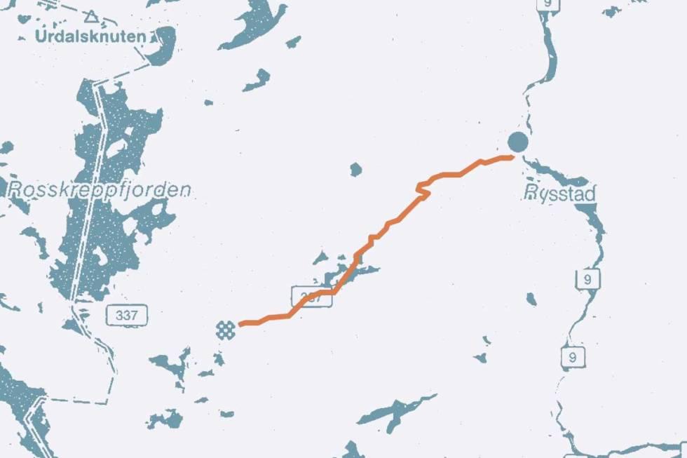 Suleskard landevei sykkel kart
