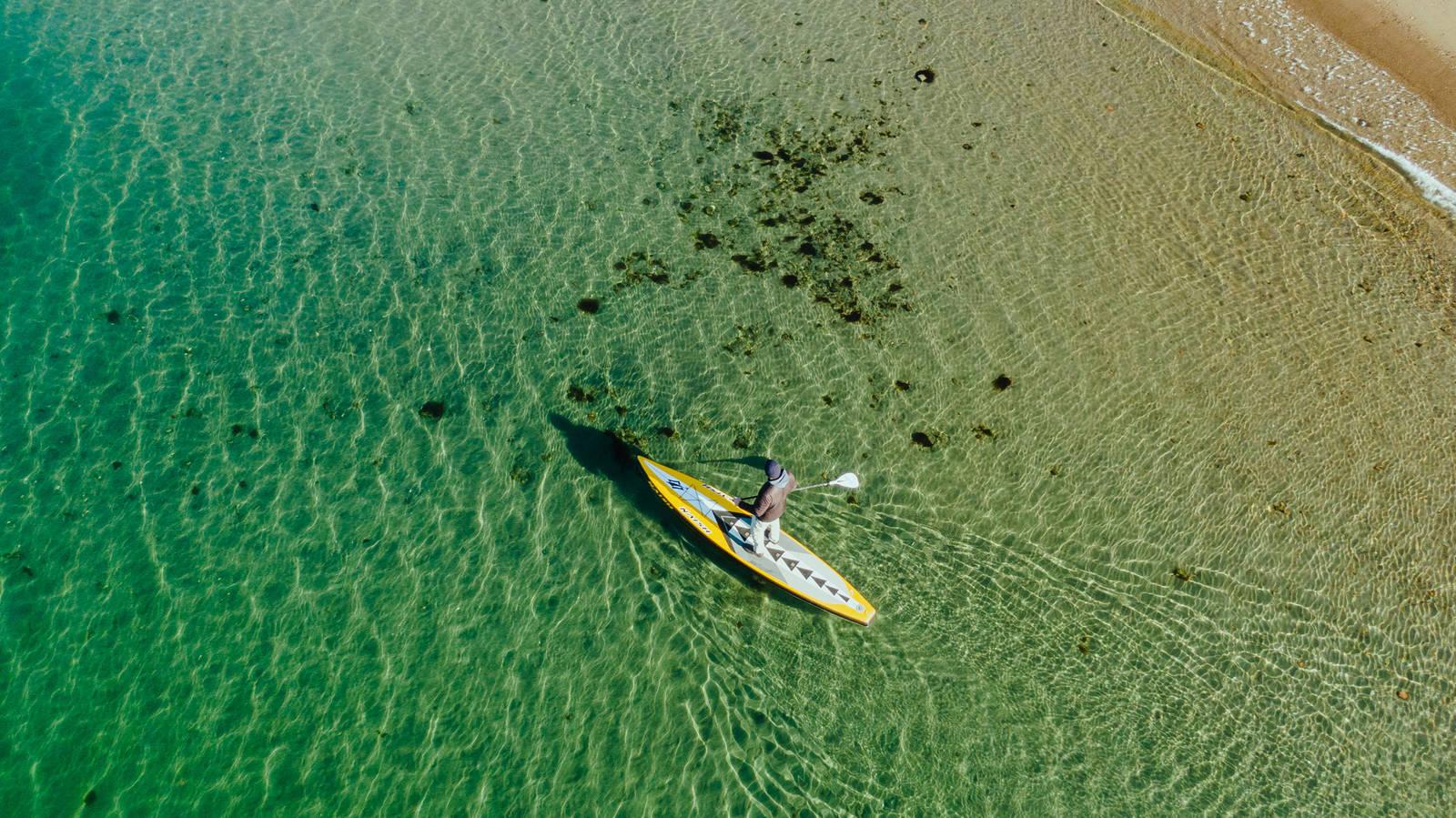 Skiphellestranda i Drøbak kan friste med tindrende klart vann - og 8-9 grader