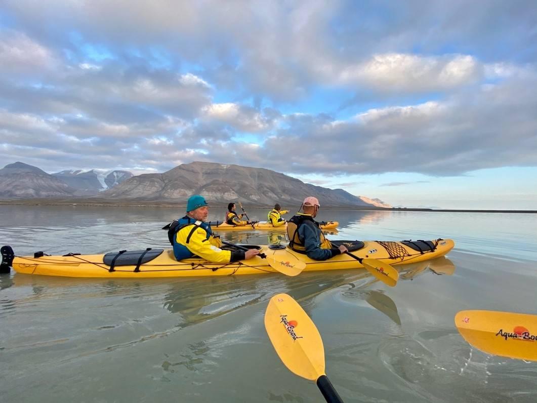 padling svalbard advenfjorden