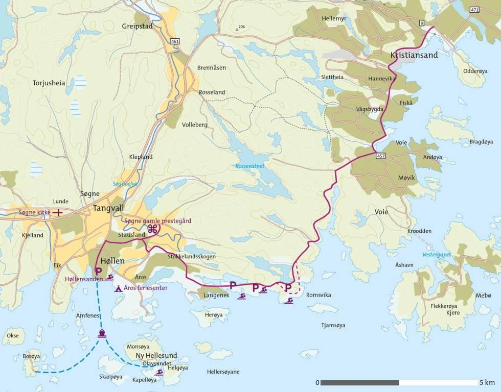Sykkel-i-Søgne-Kart