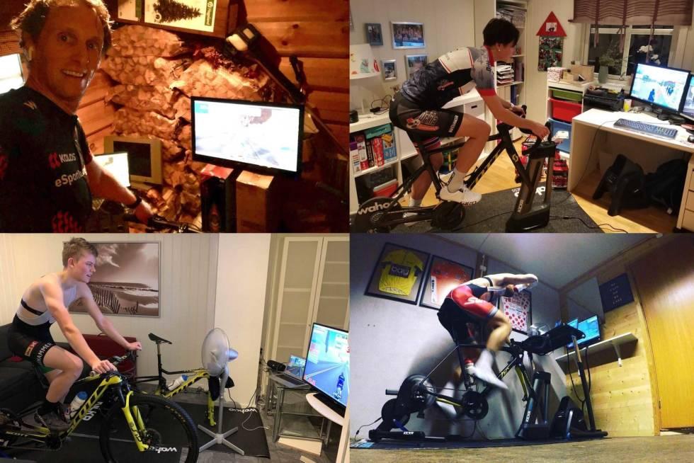 sette opp sykkelrulle hjemme