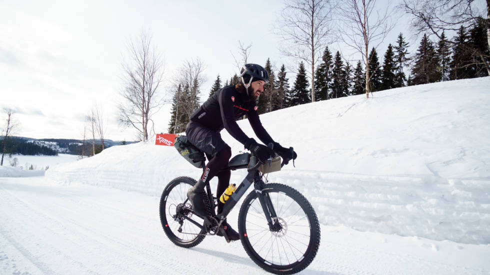 sykkel nordmarka vinter