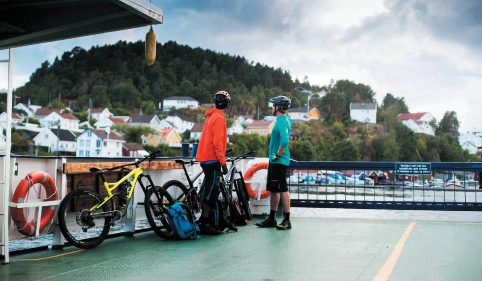 sykkel på ferge