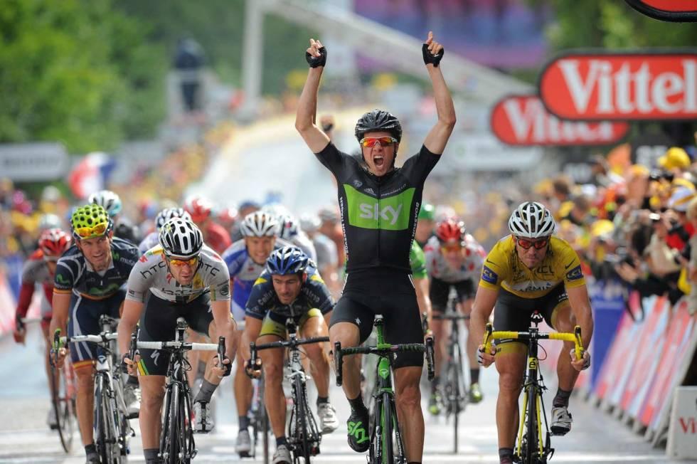 HERJET: I Bradley Wiggins skadefravær tok Edvald Boasson Hagen to etappeseiere i Tour de France for Team Sky. Foto: Cor Vos.