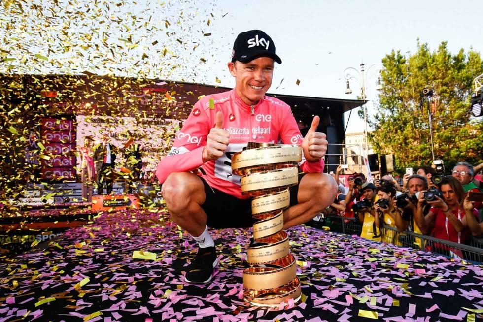 VUNNET ALT: Chris Froome har vunnet alle Grand Tours. Giro d'Italia i 2018. Foto: Cor Vos.