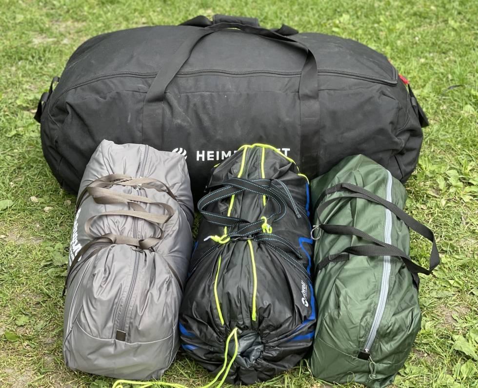 test av familie og basecamp-telt