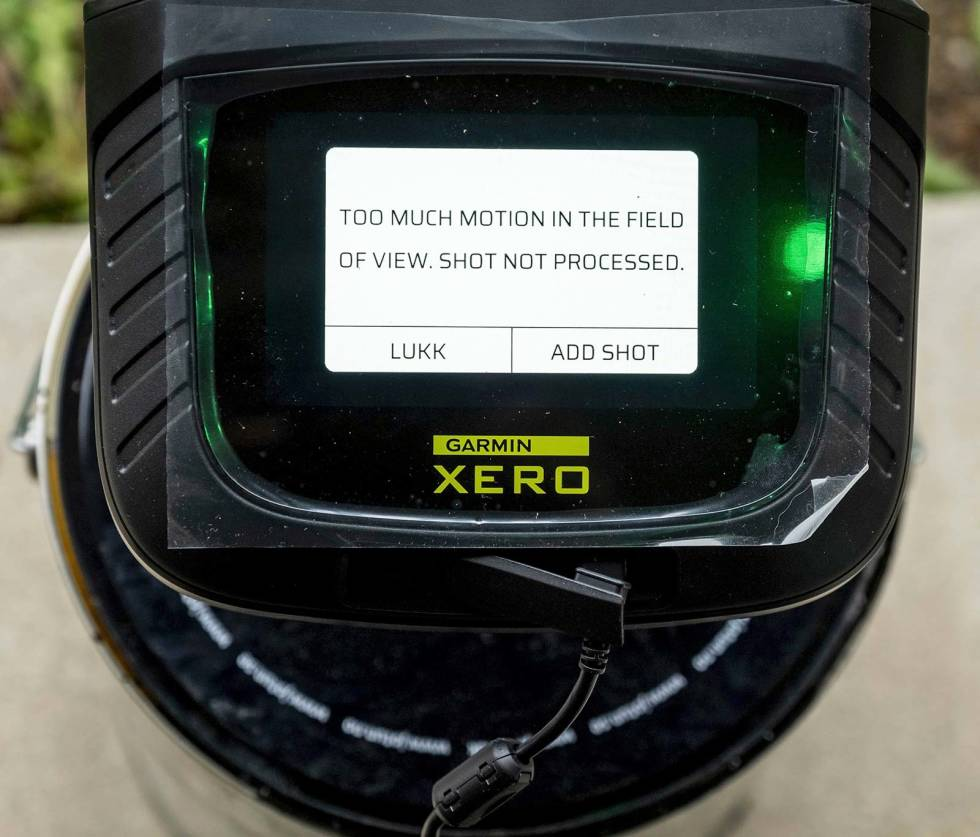 Test-av-hagleradar-Garmin-Xero-S1-8