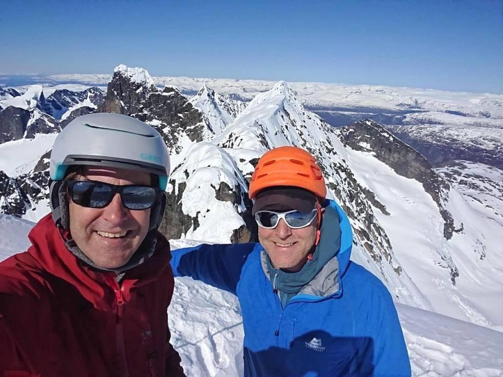 Toppen av Store Styggedalstind Hurrungane Jotunheimen