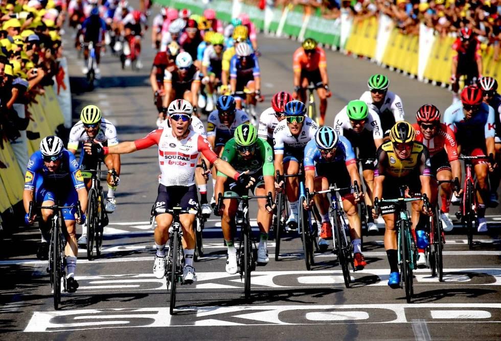Caleb Ewan vinner en etappe i tour de france