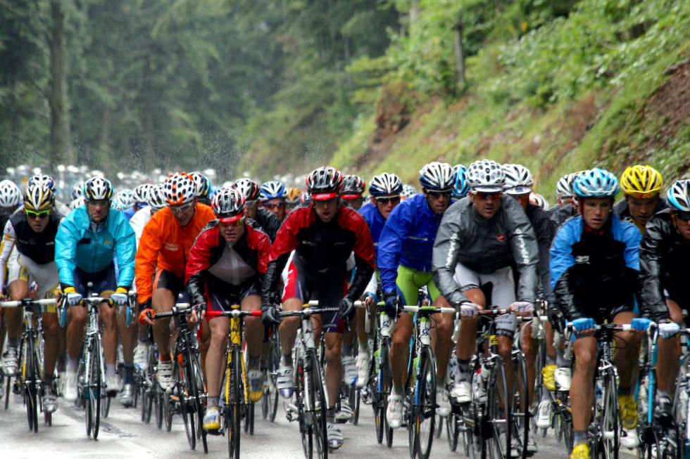 Tour de france i regnvær