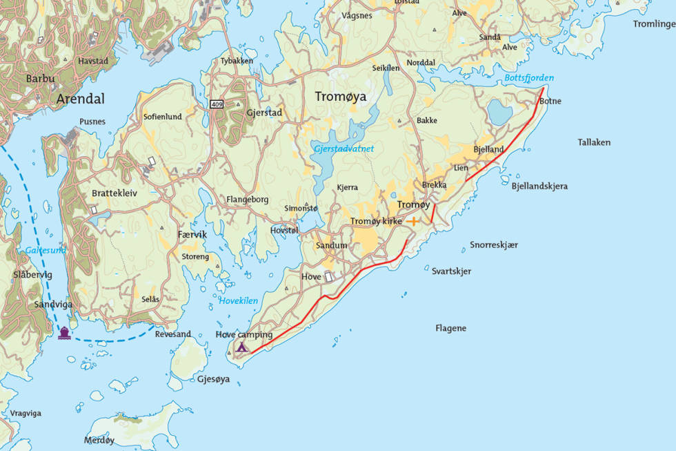 Tromøya Arendal Sørlandet turguide