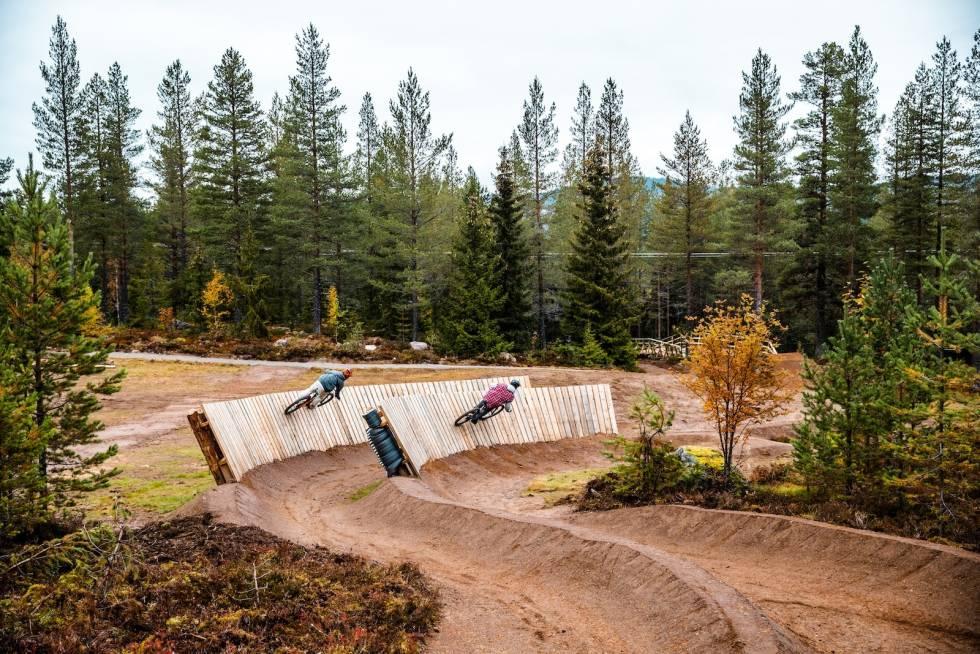 Twin Peaks var en av de nye løypene som åpnet i Trysil Bike Arena i år. Foto: Andreas Fausko