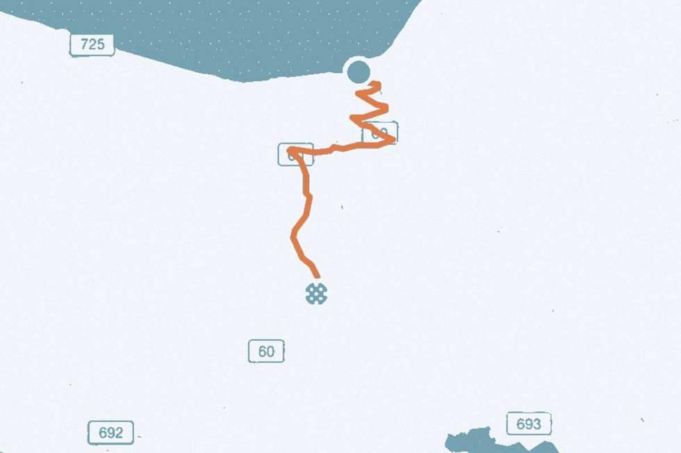 Utvikfjellet-kart