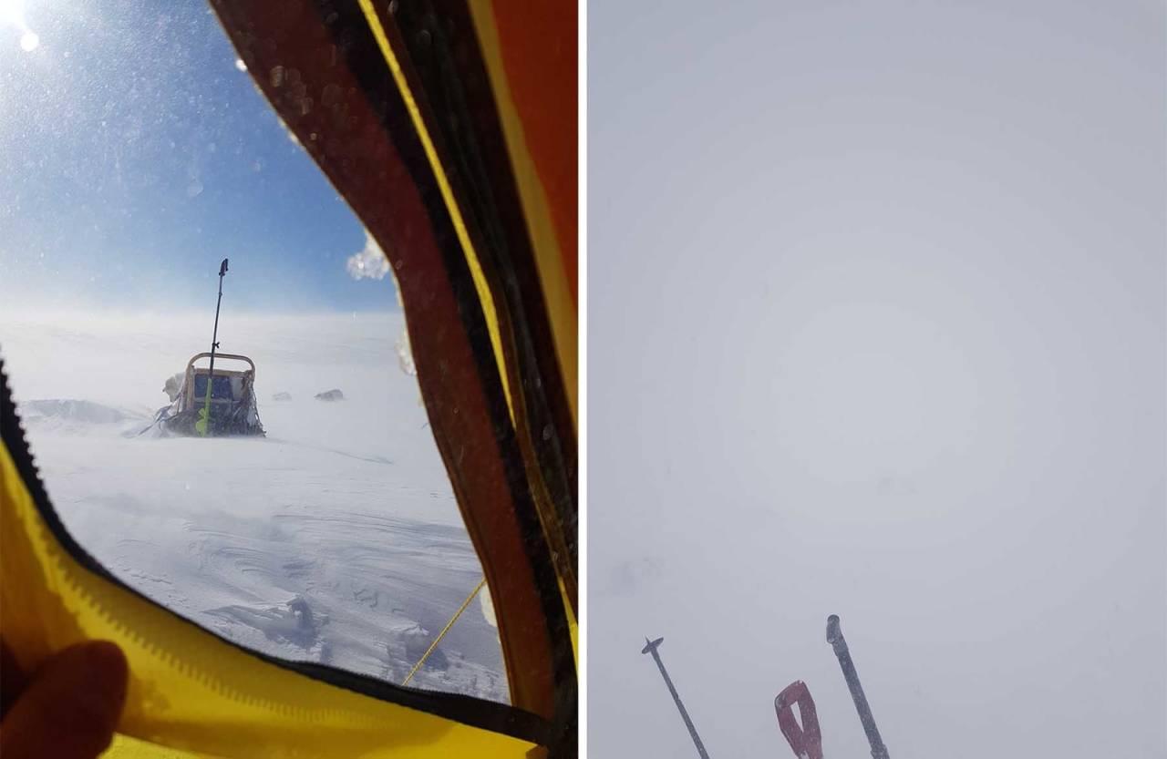 snøstorm Dividalen Finnmark vidda hundekjøring