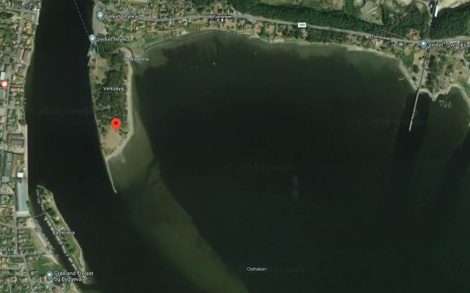 Verket Svelvik kite Drammensfjorden