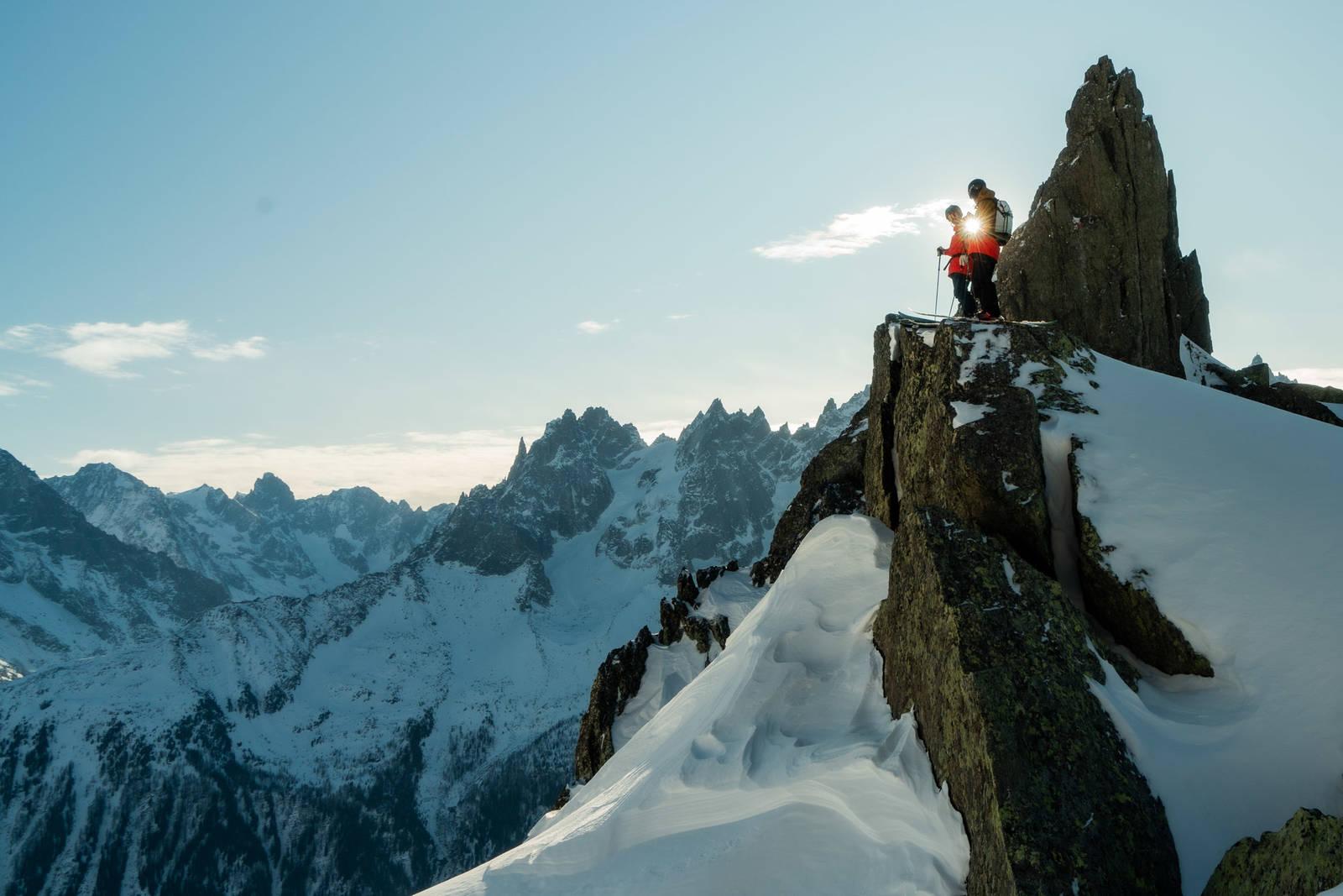 Brevent Chamonix Stian Hagen Skiing Mt. Blanc