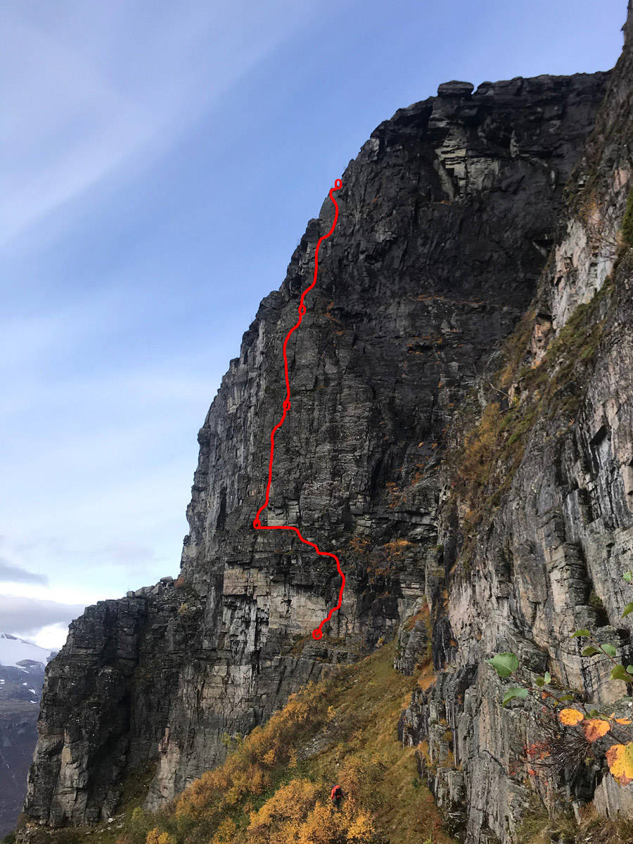 Vestre Gjelkant Innerdalen klatring