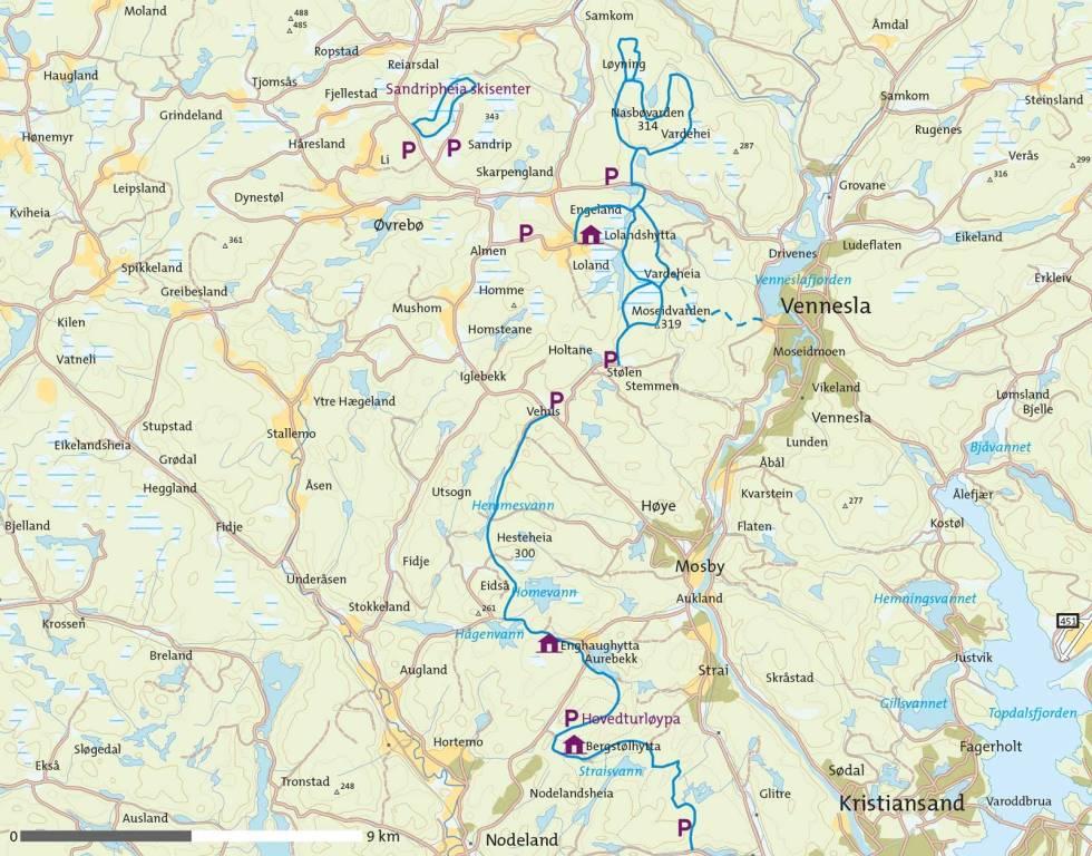 Vinter-i-Kristiansandsområdet-Kart