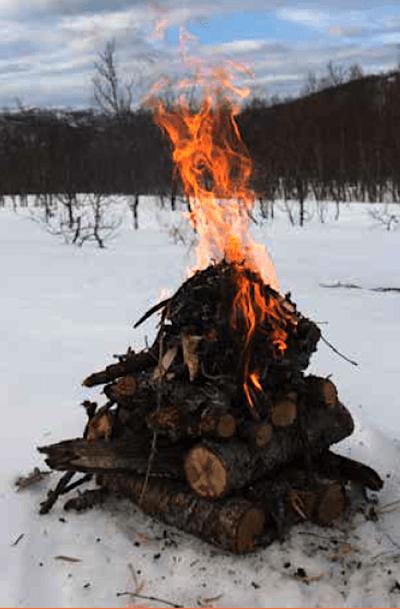 topptent vinterbål