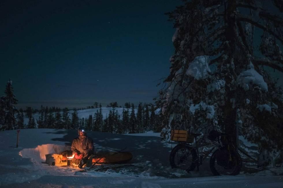 overnatting vinter tips sykkel