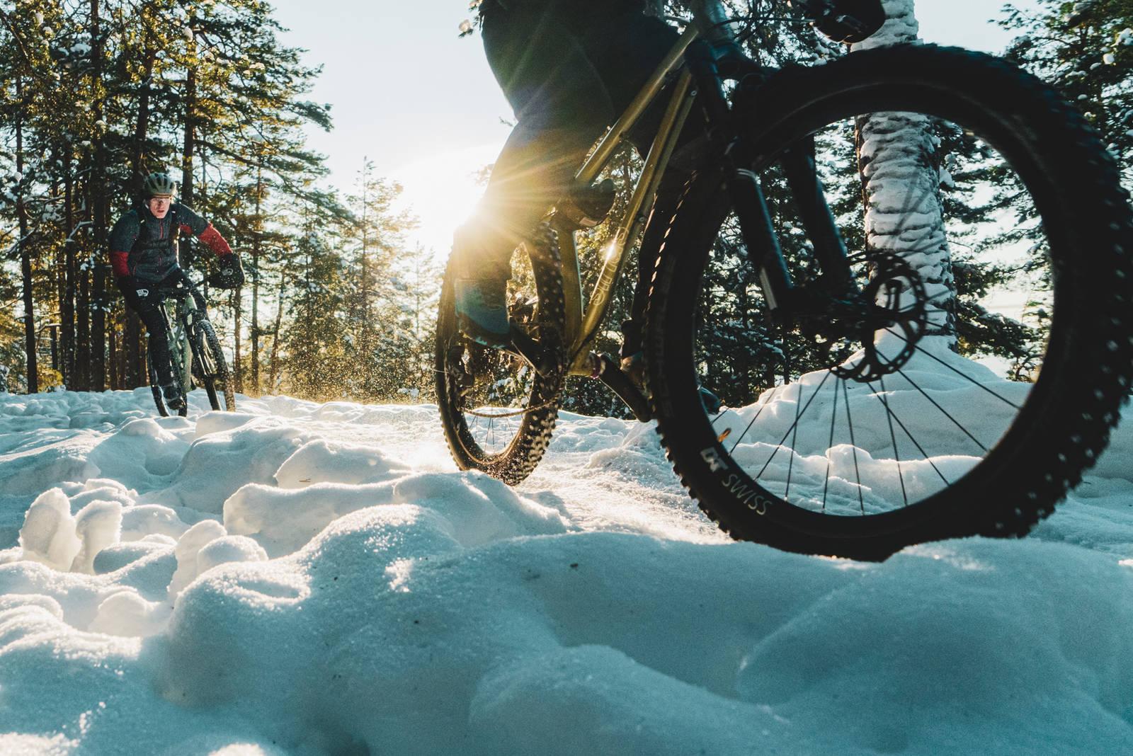 stisykling på vinteren
