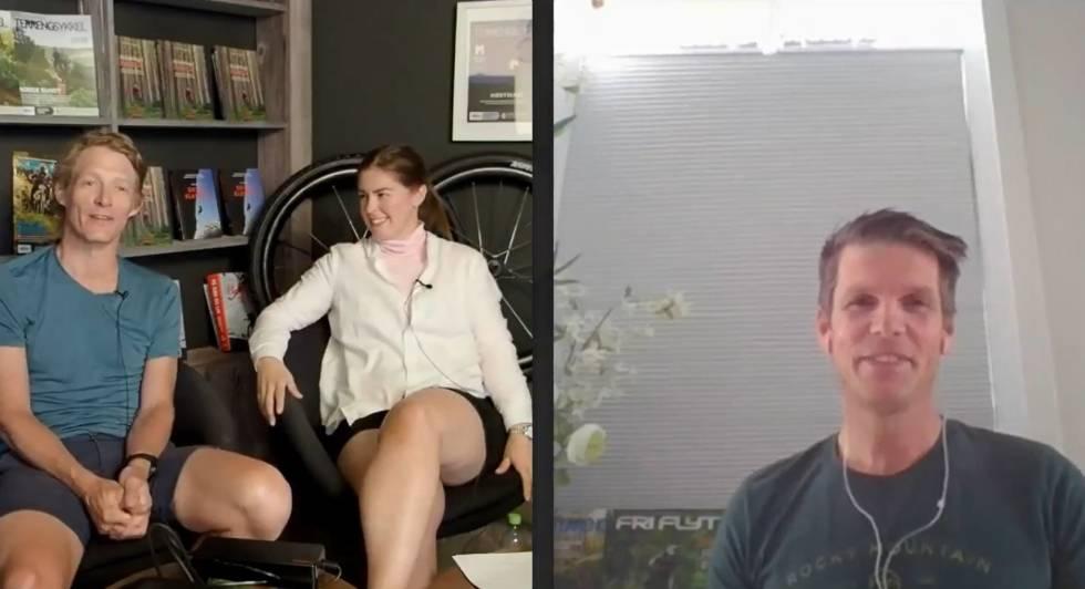 Espen Bergli-Johnsen, Øyvind Aas og Tonje Sameien snakker om elsykkel