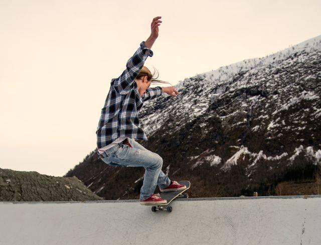 Håper på heftig shred: Xskate ansvarlig Magnus Mongstad gleder seg til festivalen. Han håper på heftig shred, og at folk koser seg med skating og musikk. Foto:Synne Isebakke Ludvigsen