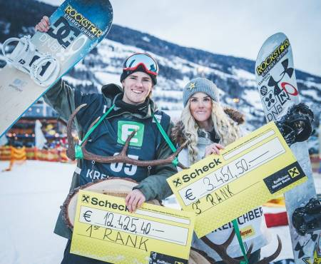 Mons og Silje kom på pallen. Foto: Process Films / Snowboardforbundet