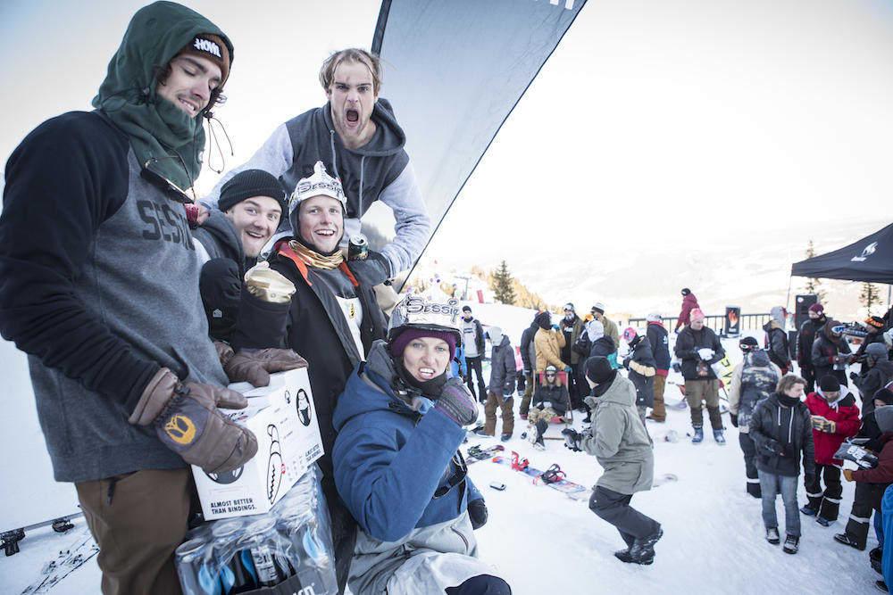 Vinnerne av The Team Battle 2015, Session teamet: Dina Treland - Eirik Nesse - Alexander Klerud - Daniel Jacobsen - Jørgen Skjerve Formoe. Foto: Daniel Tengs