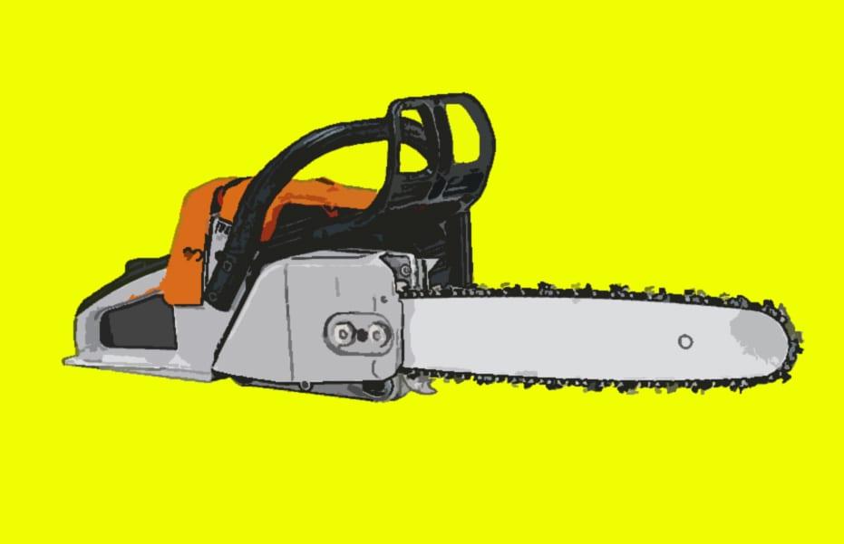 ÅPENBARINGEN: Med en motorsag og litt trass kan du lett åpne opp for noen nye frikjøringslinjer til vinteren. Illustrasjon: Hans Petter Hval