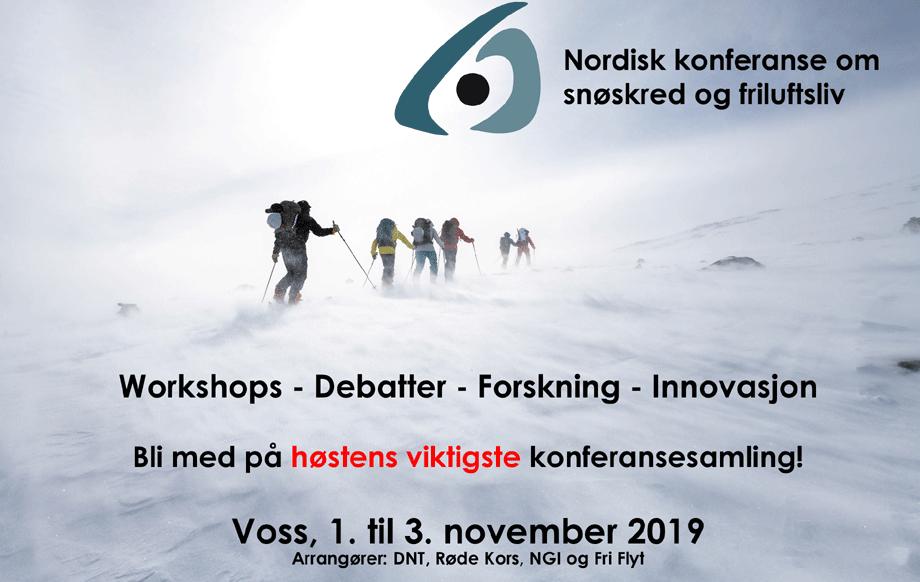 Velkommen til Skredkonferansen 2019. Foto: Hans Kristian Krogh Hansen