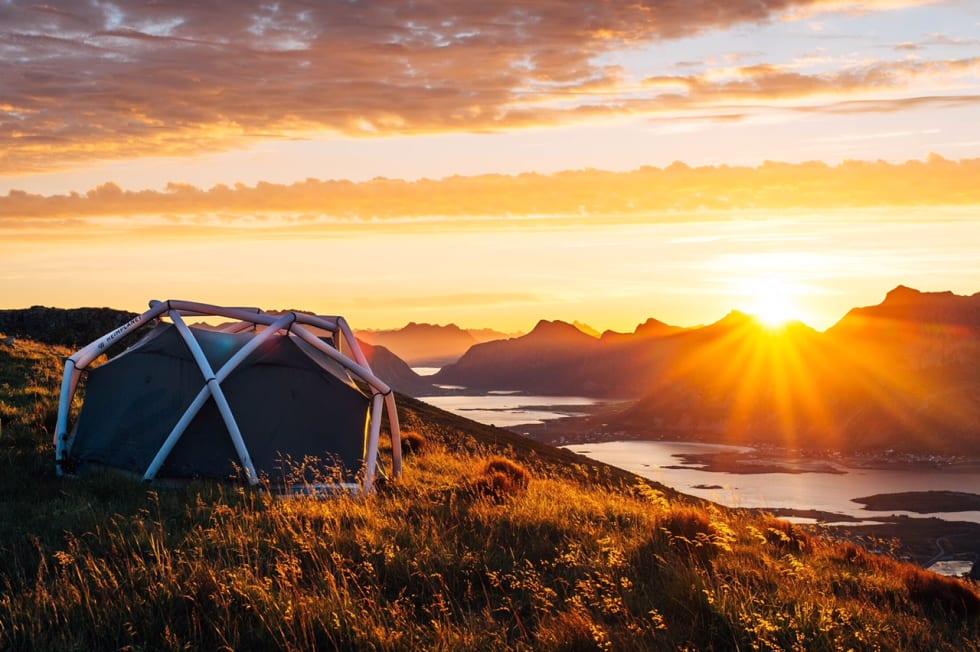 Gira på ferdigoppsatt telt fra Heimplanet? | Gamle saker