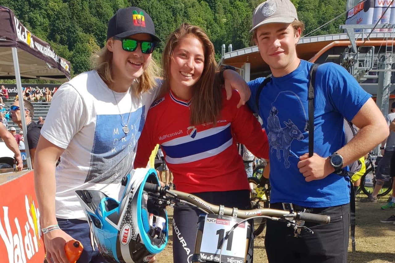 Brage Vestavik (til venstre), Mille Johnset og Atle Laakso er klare for ny verdenscuprunde denne helga. Foto: Niclas Stensrud Andersen