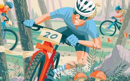 Terrengsykkelrittet 2020 - designet av Simon Scarsbrook