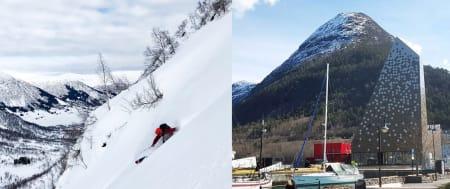 HIT ELLER DIT: Både Sogndal og Åndalsnes kjemper om å bli hovedstaden for fjellsport, inkludert Nortind. Hemseda er også aktuelt. Endelig avgjørelse fattes i løpet av mai. Foto: Tore Meirik/Nils Øverås